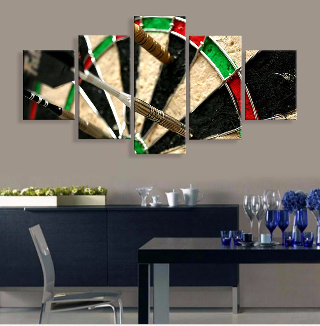 Darts 5 Pcs Canvas Wall Art