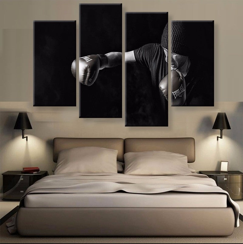 Boxing Canvas 4 Pcs Wall Art