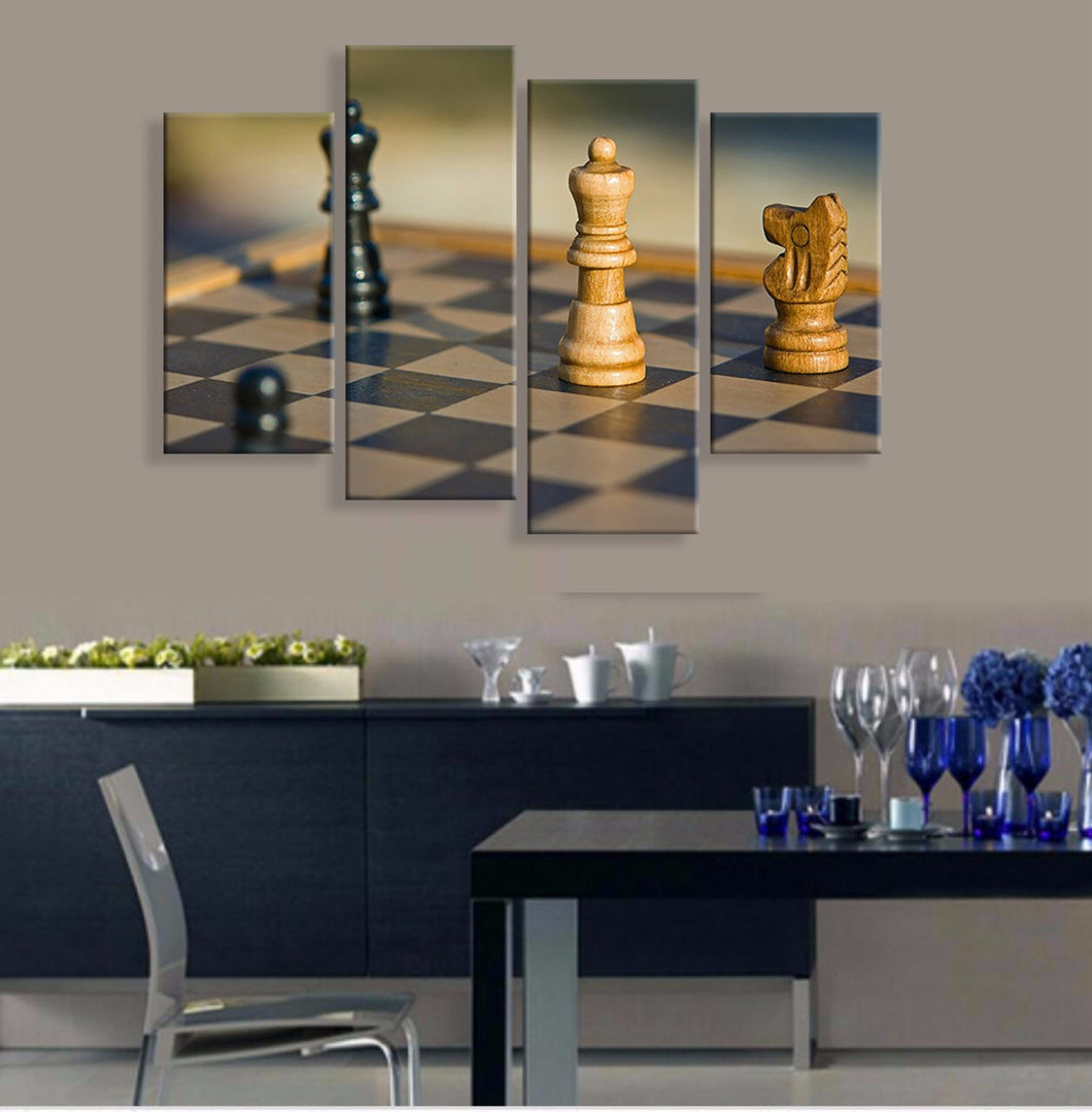 Chess Canvas 4 Pcs Wall Art