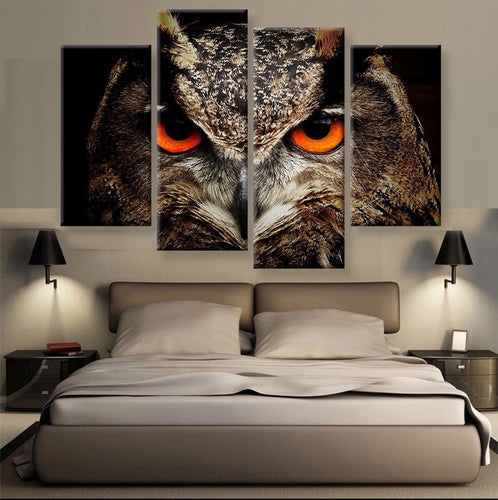 Red Eyed Owl 4 Pcs Set