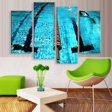 Swimming is all about good times Canvas 4 Pcs Wall Art