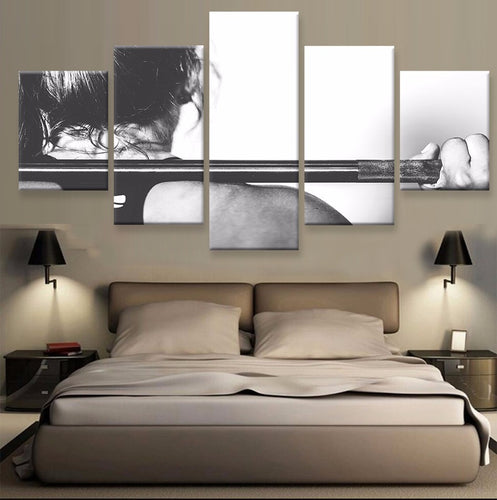 Crossfit 5 Pcs Canvas Wall Art