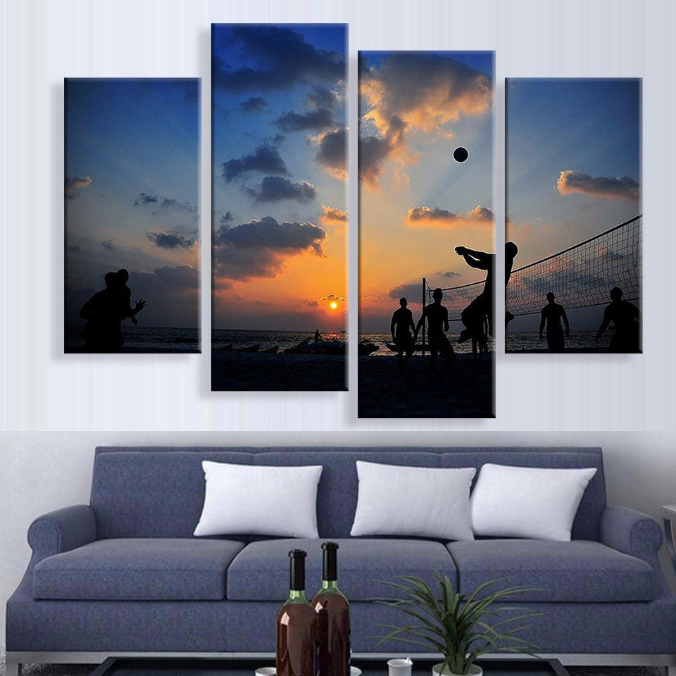 Volleyball Nights Canvas 4 Pcs Wall Art