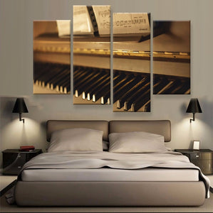 Piano Canvas 4 Pcs Wall Art
