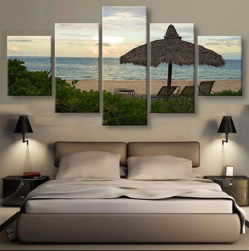 Miami Beach Canvas 5 Pcs Wall Art