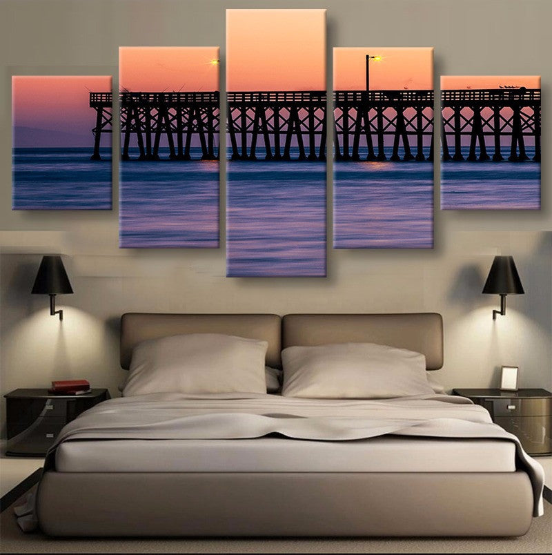 Jetty Canvas 5 Pcs Wall Art