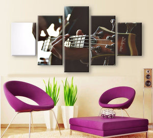 Guitarist 5 Pcs Canvas Wall Art
