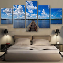 Florida's Train Track Canvas 5 Pcs  Wall Art