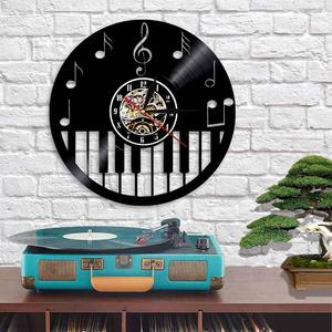 Vinyl Record Wall Clock - Piano Style