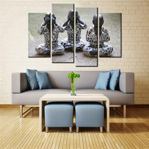 The Three Wise Monkeys 5 Pcs Canvas Set