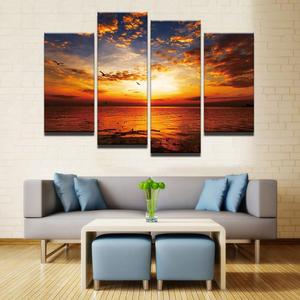Beautiful Chilling Sunset 4 Pcs Canvas Set