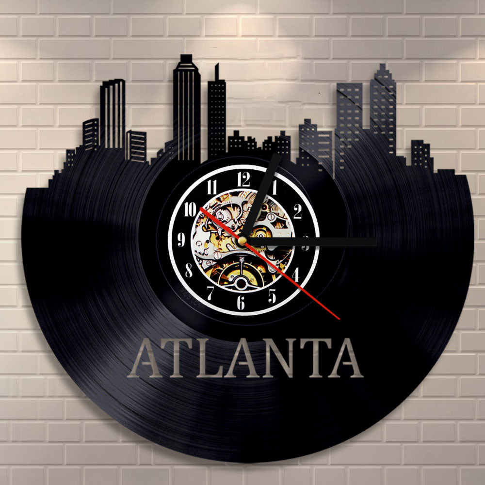 Vinyl Record Wall Clock - Atlanta Style