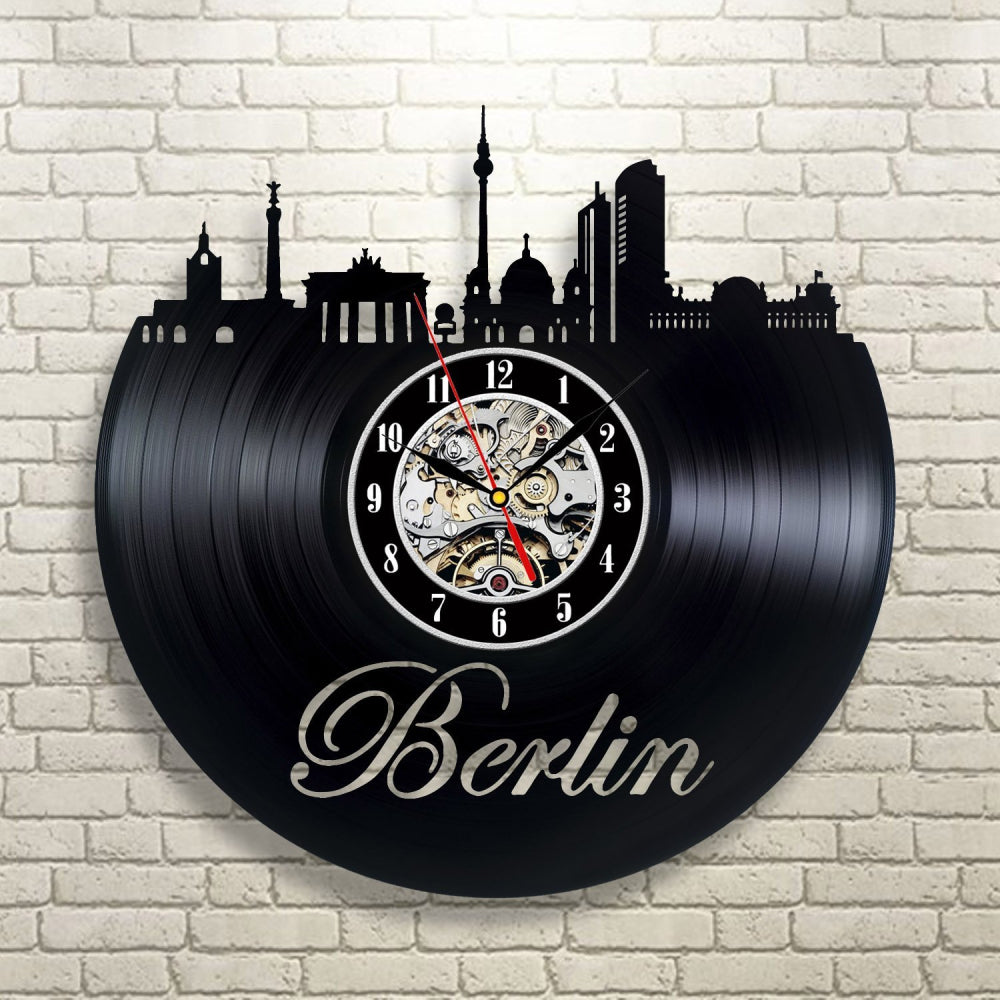 Vinyl Record Wall Clock - Berlin Style