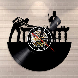 Vinyl Record Wall Clock - Billiard Style