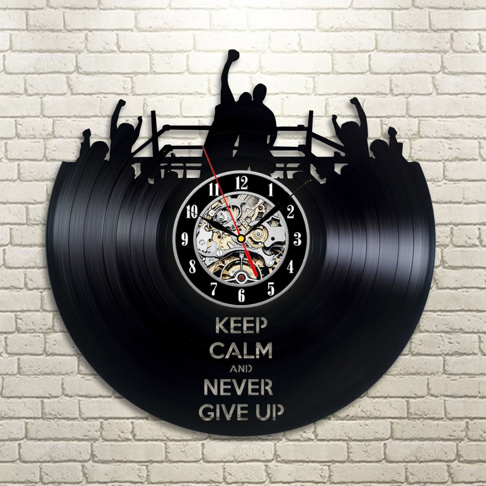 Vinyl Record Wall Clock - Boxing Style
