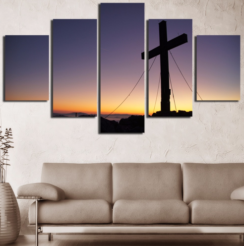 In God We Trust Canvas 5 Pcs Wall Art