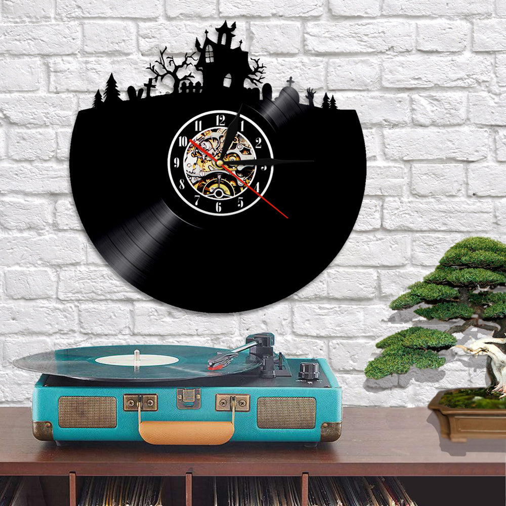 Vinyl Record Wall Clock - Darkness Style