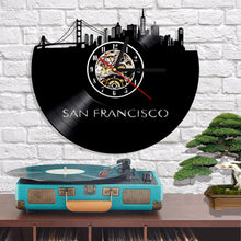 Vinyl Record Wall Clock - San Francisco Style