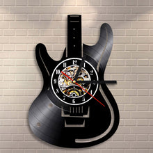 Vinyl Record Wall Clock - Guitarist Style