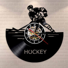 Vinyl Record Wall Clock - Hockey Style