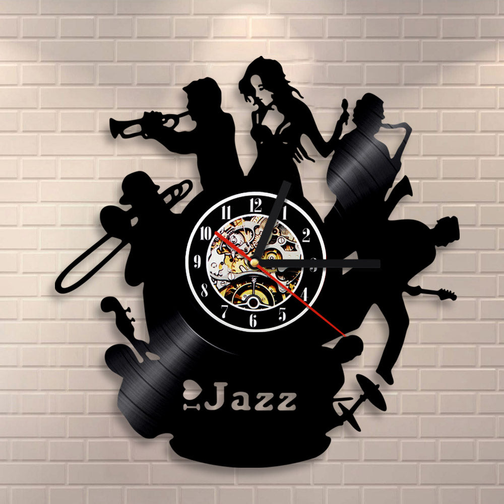 Vinyl Record Wall Clock - Jazz Style