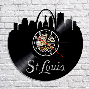 Vinyl Record Wall Clock - St. Louis Style