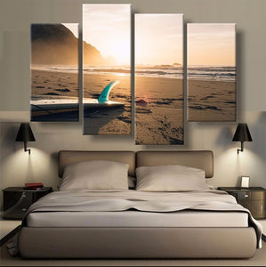 Surfboard Canvas 4 Pcs Wall Art