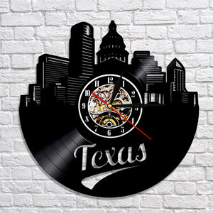 Vinyl Record Wall Clock - Texas Style