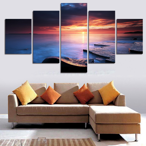 Sunset Canvas 5 Pcs Wall Art