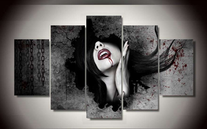 Vampire Canvas 5 Pcs Wall Art