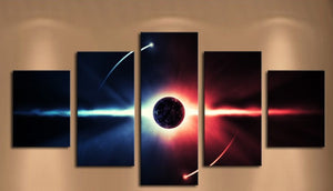 Planet Canvas Print Picture 5 Pcs Wall Art