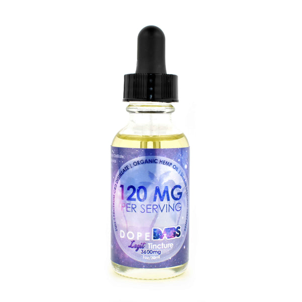 Full Spectrum CBD Tincture - 3600 mg - 100% Cannabis Hemp Oil