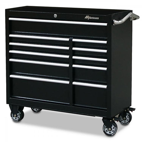 "Montezuma 41"" 11-Drawer Tool Cabinet BK4111TC - Tool Chest King"