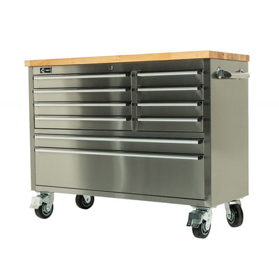 "Trinity 48"" Stainless Steel Workbench TLS-4801 - Tool Chest King"