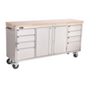 "TRINITY STAINLESS STEEL 72"" ROLLING WORKBENCH - Tool Chest King"
