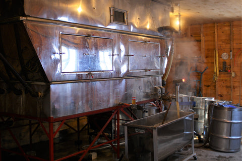 Boiling with steam evaporator