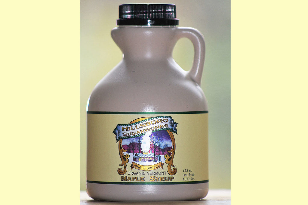 Hillsboro Sugarworks pint Vermont maple syrup