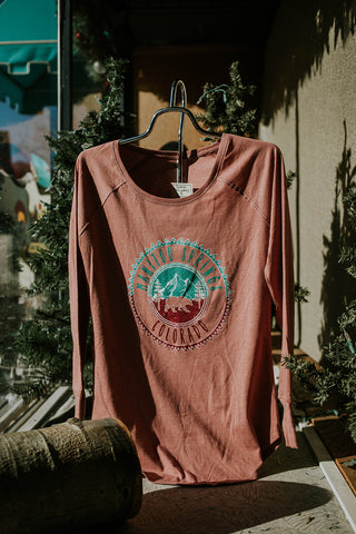 Mtn Bear Lines Long Sleeve Tee