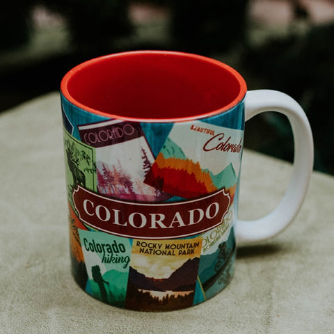 Mug Colorado Retro Collage