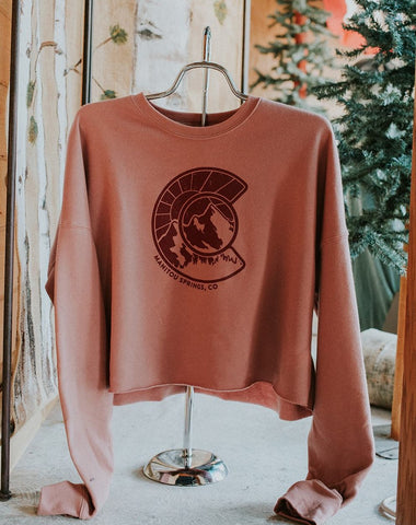 Crew Neck CO Crop Sweatshirt