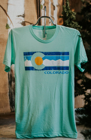 Triblend CO Flag Mtn Range Tee