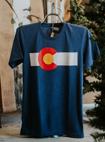 CO Flag Tri-blend Tee