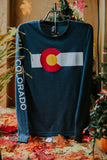 Long Sleeve CO Flag Tee