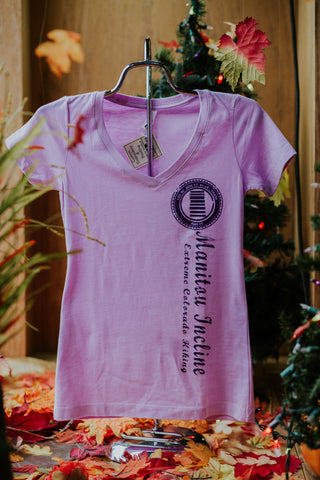 Womens V- Neck Incline Stamp