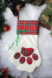 Custom Christmas Stocking - Dog Paw