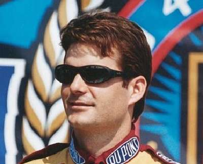Sporty sunglasses became very popular among men in the 1990s. Jeff Gordon would wear them frequently, including when he won the NASCAR Winston Cup Champion in 1998
