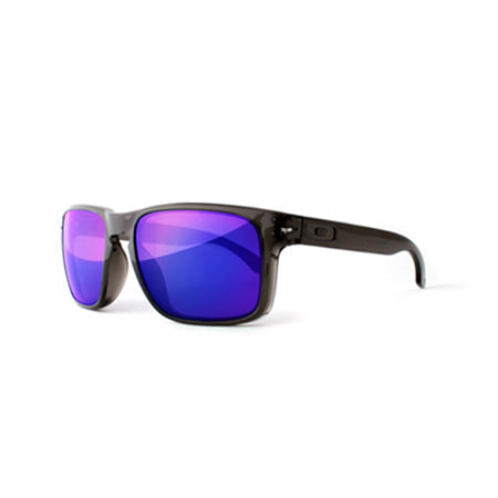 Fuse Lenses Cosmic Purple Mirror replacement lenses shown in Oakley Holbrook frames