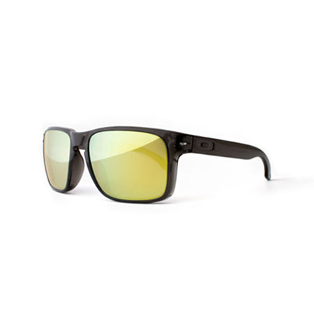 Fuse Lenses Fusion Yellow Mirror replacement lenses shown in Oakley Holbrook frames