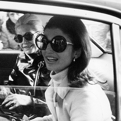 Jackie Kennedy would wear oversized sunglasses to hide from paparazzi.