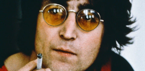 The teashades sunglasses were used by varies icons in music, especially during the 1960s. This picture shows John Lennon wearing teashades sunglasses with yellow lenses.